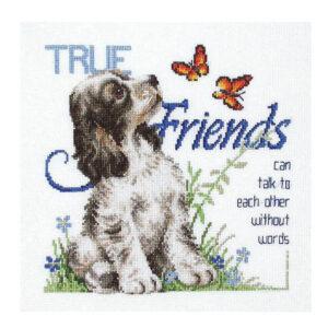 Country Threads Cross Stitch TRUE FRIENDS Kit New X Stitch JJ-108