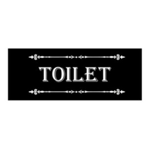 French Country Inspired Wall Art Plaque BLACK TOILET Wooden Sign New