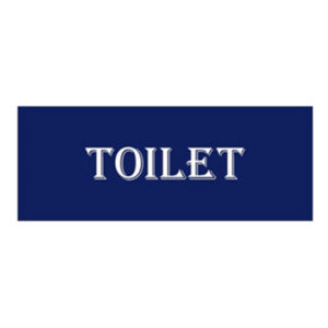 French Country Inspired Wall Art Plaque NAVY TOILET Wooden Sign New