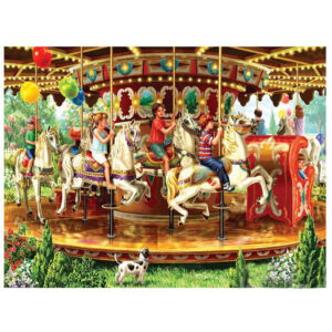 5D Diamond Painting Full Image Square Drills CAROUSEL 40x50cm New