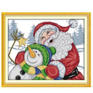 Cross Stitch Kit MERRY CHRISTMAS X Stitch Joy Sunday Designs Incl Threads New