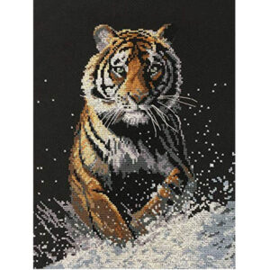 Country Threads Cross Stitch ON THE PROWL TIGER Kit New X Stitch 057135