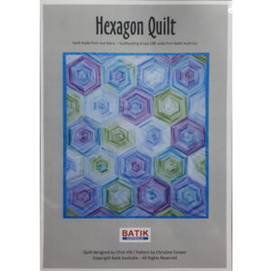 Quilting Sewing Quilt Pattern HEXAGON Patchwork Pattern Batiks New