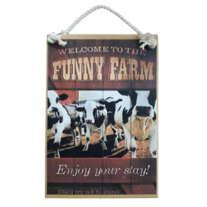 Country Printed Quality Wooden Sign Funny Farm Welcome Plaque New