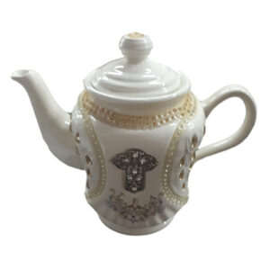 French Country Lovely Kitchen Teapot CRYSTAL BLING China Tea Pot New