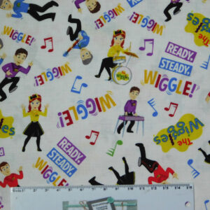 Quilting Patchwork Sewing Fabric THE WIGGLES 50x55cm FQ New Cotton Material