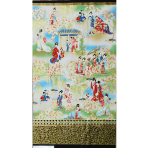 Patchwork Quilting Sewing Fabric JAPANESE IMPERIAL COLLECTION Panel 60x110cm New