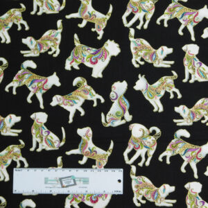 Quilting Patchwork Sewing Fabric DOG GONE IT DOGITUDE 50x55cm FQ New Material