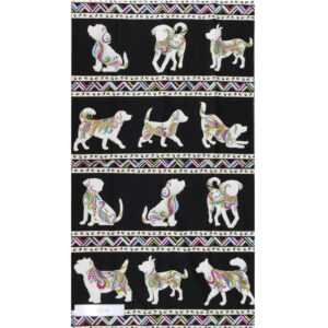 Patchwork Quilting Sewing Fabric DOG GONE IT DOGITUDE Border Panel 59x110cm New