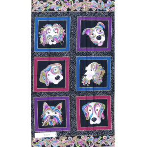 Patchwork Quilting Sewing Fabric DOG GONE IT DOGITUDE Panel 60x110cm New