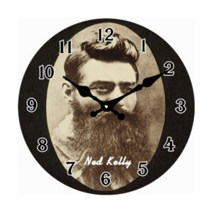 French Country Chic Retro Celebrity Inspired Wall Clock 17cm NED KELLY New