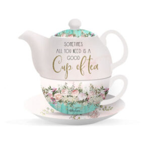French Country Lovely Teapot ENGLISH ROSE TEA FOR ONE Good Cup of Tea New