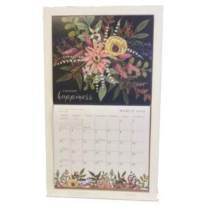 2020 Lang Legacy Calendar Frame Wooden WHITE HOOK Display Calender New