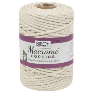 Creative Macrame Cotton Cording Rope 80meters Make your Own Wall Hanging Hanger New