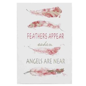 French Country Canvas Print FEATHER APPEAR ANGELS NEAR 40x60cm New