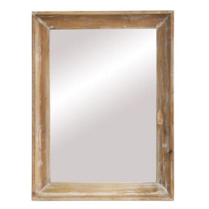 French Country Large Rustic Wooden Frame Mirror 60x80cm New