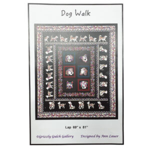 Quilting Patchwork Sewing Kit DOG WALK with DOG GONE IT Fabric New