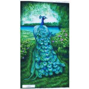 Patchwork Quilting Sewing Fabric PEACOCK ELEGANCE Panel 63x110cm New Material