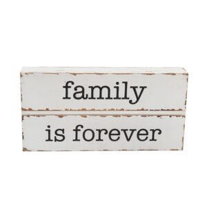 Country Painted Wooden Freestanding Sign FAMILY IS FOREVER Plaque New