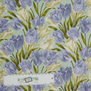 Quilting Patchwork Sewing Fabric TOTALLY TULIPS PURPLE ALLOVER 50x55cm FQ New Material