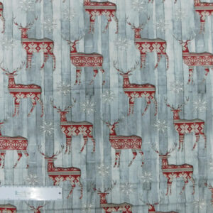 Quilting Patchwork Sewing Fabric CHRISTMAS REINDEER 50x55cm FQ New