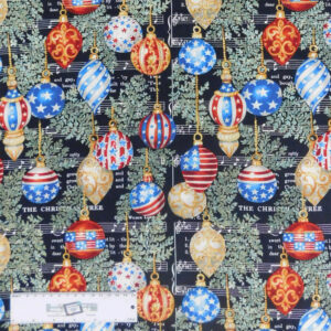 Quilting Patchwork Sewing Fabric CHRISTMAS ORNAMENT 50x55cm FQ New