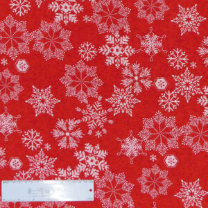 Quilting Patchwork Sewing Fabric CHRISTMAS SNOWFLAKES 50x55cm FQ New