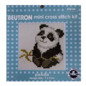 BEUTRON Cross Stitch Kit For Beginner PANDA 7x7cm 578104 New