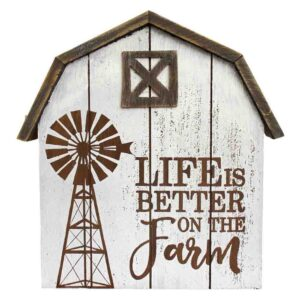French Country Wall Art LIFES BETTER ON THE FARM Wooden Sign New