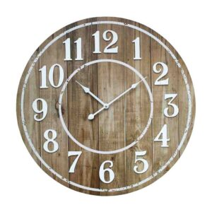 Clock French Country Vintage Wall Hanging 58cm DRIFTWOOD New