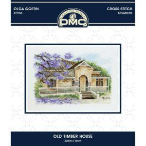 DMC Cross Stitch Kit OLD TIMBER HOUSE Olga Gostin 577106 New