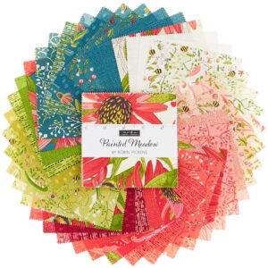 Quilting Charm Pack Patchwork MODA PAINTED MEADOW 5 Inch Fabrics Material New