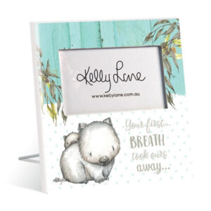French Country Vintage Inspired Photo Frame BABY JOEY Wombat Breath Away 20x20cm New