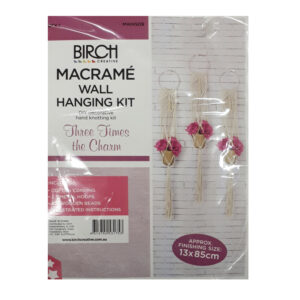 Creative Macrame Kit THREE TIMES THE CHARM Make your Own Pot Holders New