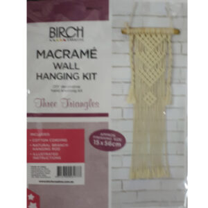 Creative Macrame Kit THREE TRIANGLES Make your Own Wall Hanger New
