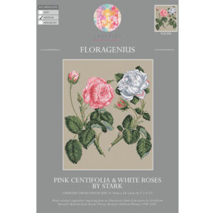 My Cross Stitch FLORAGENIUS PINK CENTIFOLIA ROSE Kit New 057141