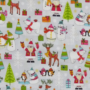 Quilting Patchwork Sewing Fabric FESTIVE CHRISTMAS 50x55cm FQ New Material