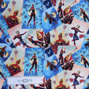 Quilting Patchwork Sewing Fabric CAPTAIN MARVEL 50x55cm FQ New Material