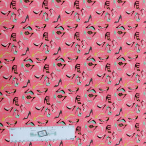 Quilting Patchwork Sewing Fabric GLAM GIRL SHOES 50x55cm FQ New Material