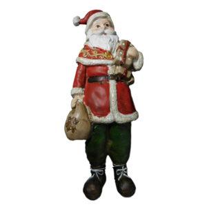 Christmas Santa Ornament Xmas Free Standing with Sack New