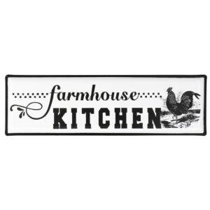 Country Metal Enamel Farmhouse Sign FARMHOUSE KITCHEN Plaque New