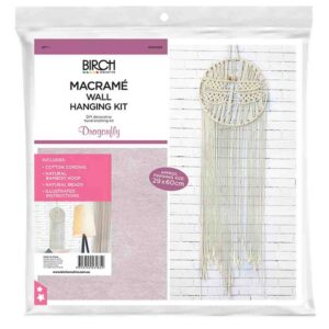 Creative Macrame Kit DRAGONFLY Make your Own Wall Hanging Kit New