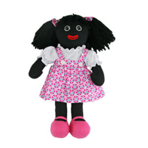 Lovely Soft Rag Doll ANGIE Pink Dress Girl Doll 35cm New