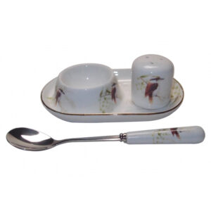 French Country Lovely Egg Cup with Spoon and Salt KOOKABURRA New