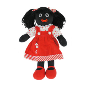 Lovely Soft Rag Doll GEORGINA Red Pinafore Dress 35cm New