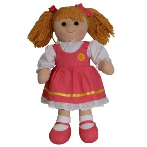 Lovely Soft Rag Doll HAZEL Pink Dress Girl Doll 35cm New
