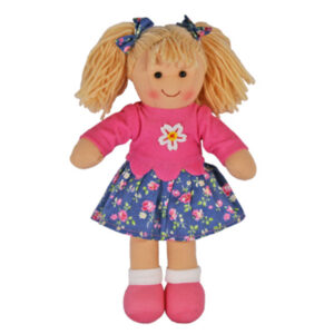 Lovely Soft Rag Doll LIZZIE Blue Skirt Girl Doll Medium 25cm New