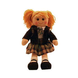 Lovely Soft Rag Doll MADISON School Girl Doll 35cm New