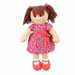 Lovely Soft Rag Doll POPPY Pink Dressed Girl Doll 35cm New