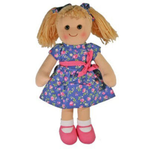 Lovely Soft Rag Doll ROSIE Blue Dressed Girl Doll 35cm New